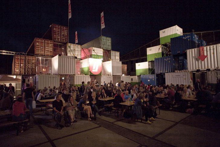 Deltec Homes O+a's Recycled Shipping Container Theater Pops Up In