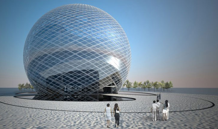 Los Angeles Architects Igreen: Giant Sphere Made From Thousands Of Recycled Cds