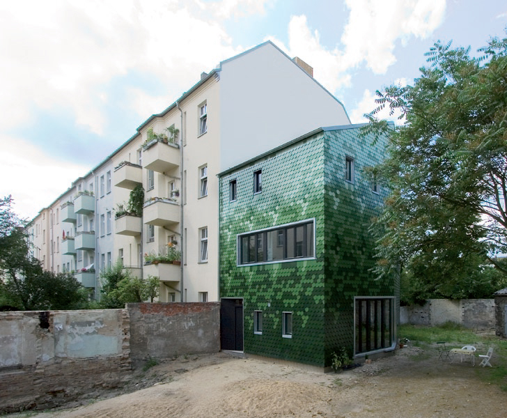 Solar Powered Berlin Home Features A Camouflaging - Home Berlin