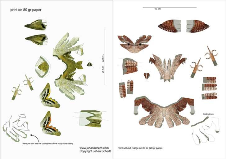 Johan Scherft Creates Amazingly Realistic Birds From Paper