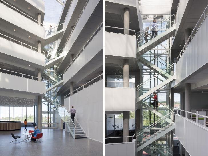 Moe39s Daylight Filled Copenhagen Office Spirals Like A
