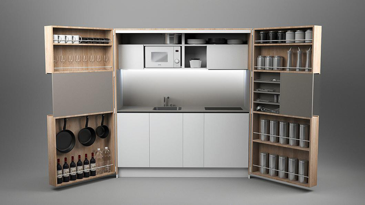 How To Set Up My Small Kitchen Cabinets Dizzconcept's Full-sized Gourmet Pia Kitchen Fits In A