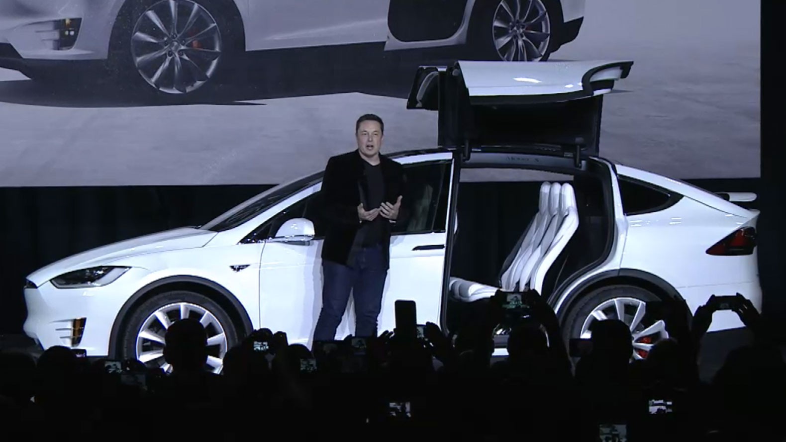7 Seater Electric Car Tesla Unveils The Model X The Worlds Longest Range
