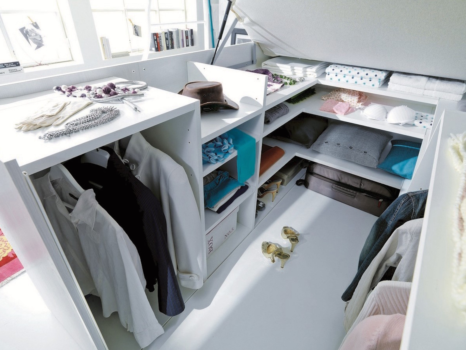 Space Saving Wardrobe Ideas Smart Space Saving Bed Hides A Walk In Closet Underneath