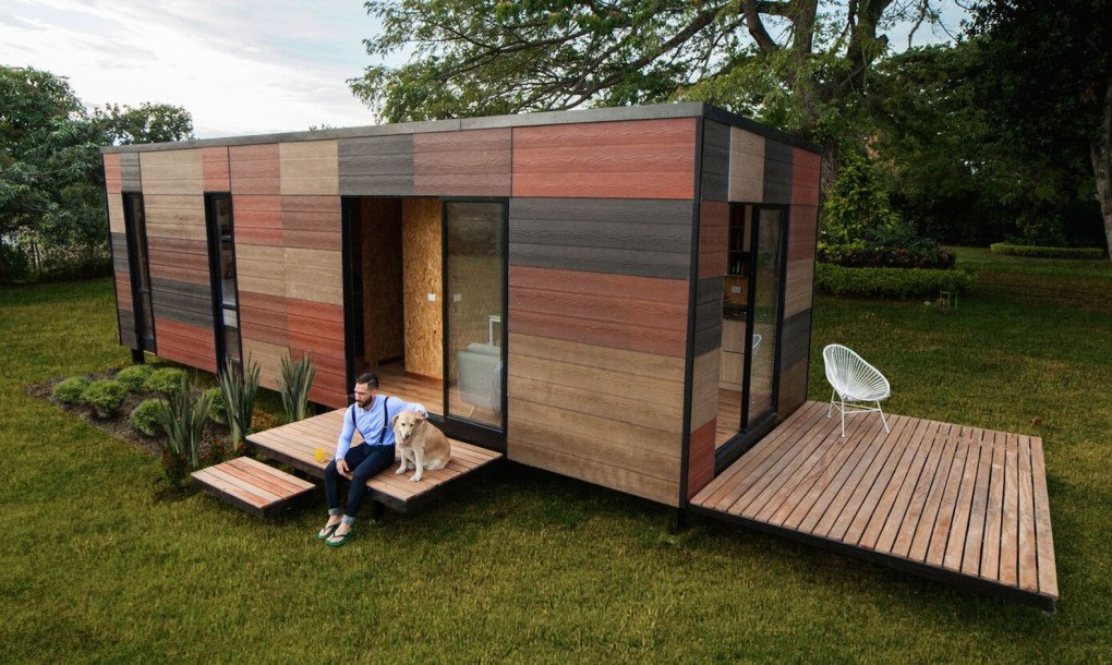 Maison Container Permis De Construire Earthy Modular Vimob Home Can Be Erected In Even The Most