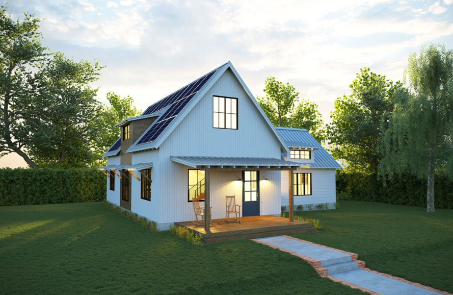 Deltec Homes Deltec Solar Farmhouse Exterior « Inhabitat – Green Design