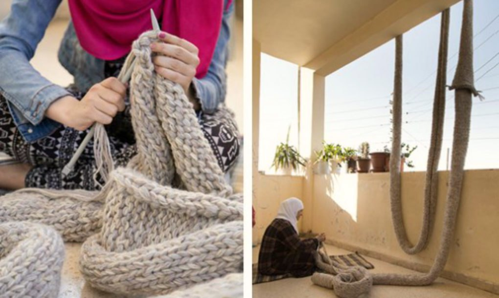 Ikea Blankets Rope Art Installation Repurposed Into Blankets For Syrian