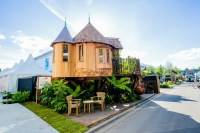 Magical Blue Forest treehouse is a fairytale castle for ...
