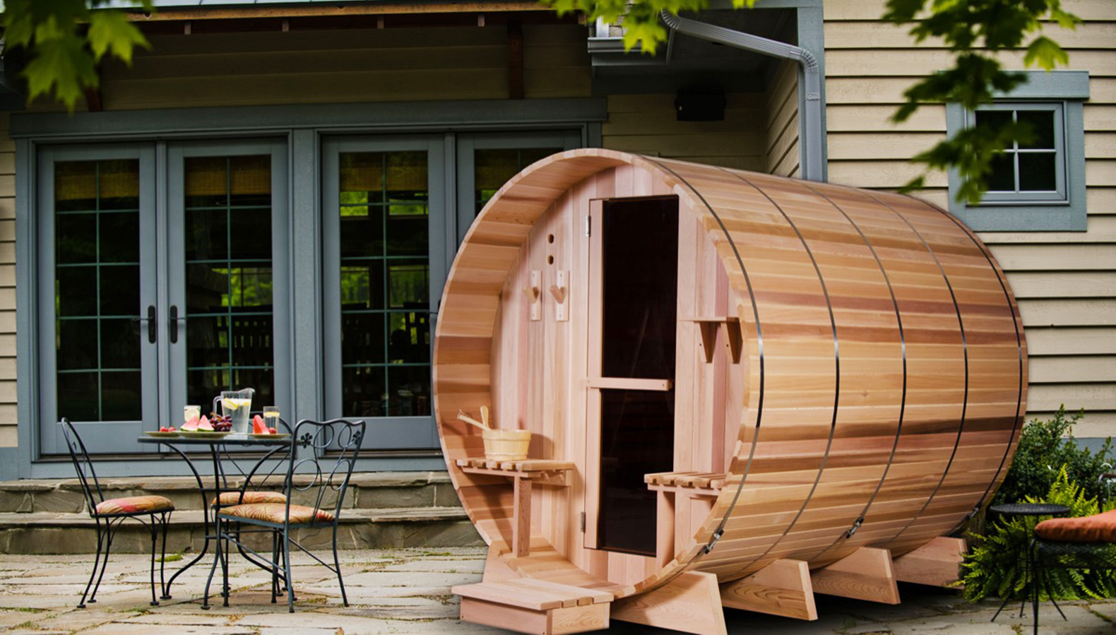 Sauna Outdoor The Grandview Barrel Sauna Is A Backyard Oasis For The ...