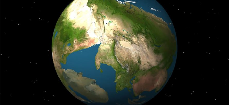 Awesome new animation envisions Earth in 250 million years - animated maps