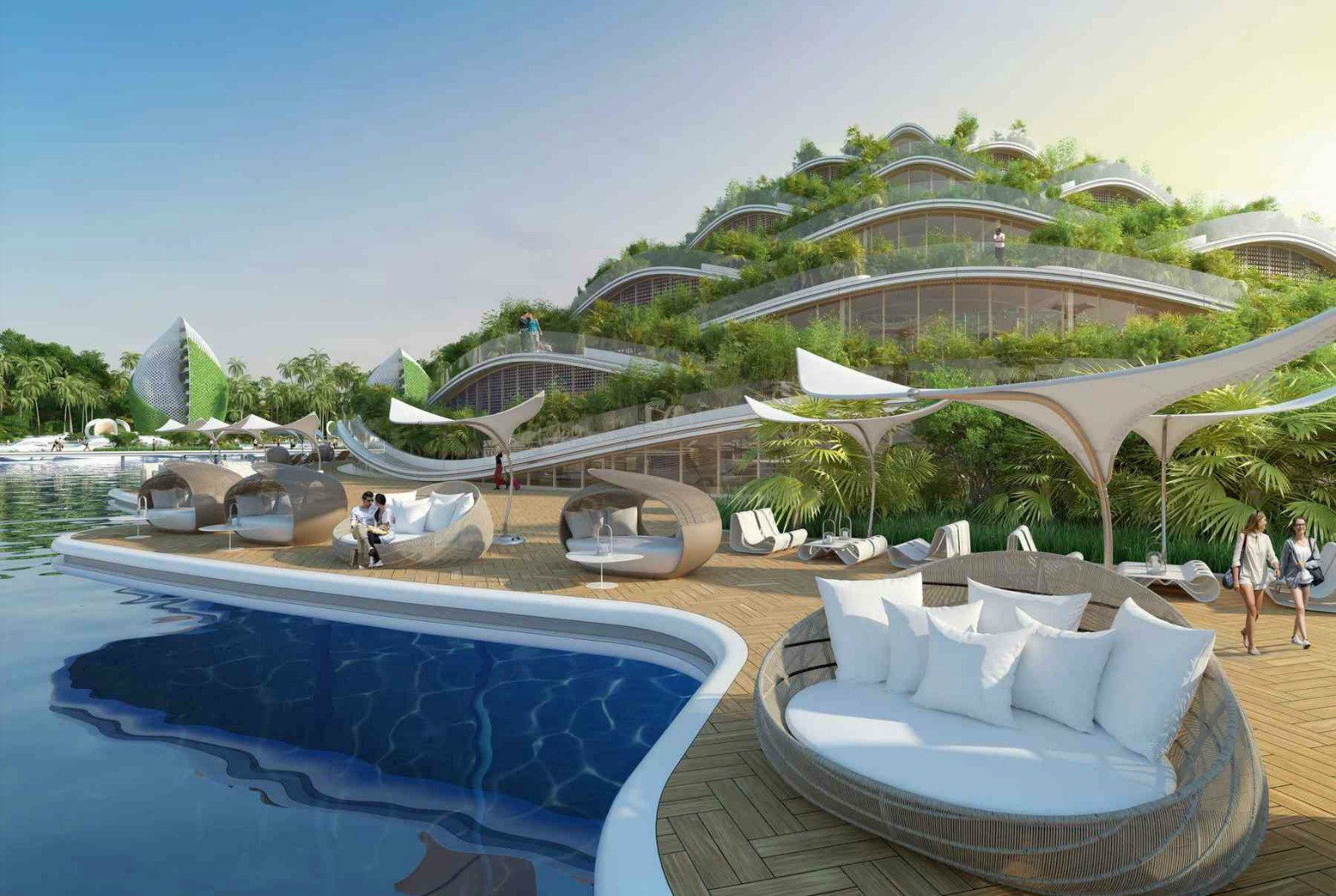 Desain Resort Vincent Callebaut 39s Visionary Eco Resort For The