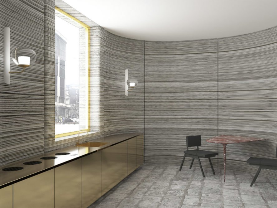 3d Curved Wallpaper 3d Printed House By Arup And Cls Architetti Pops Up In 48