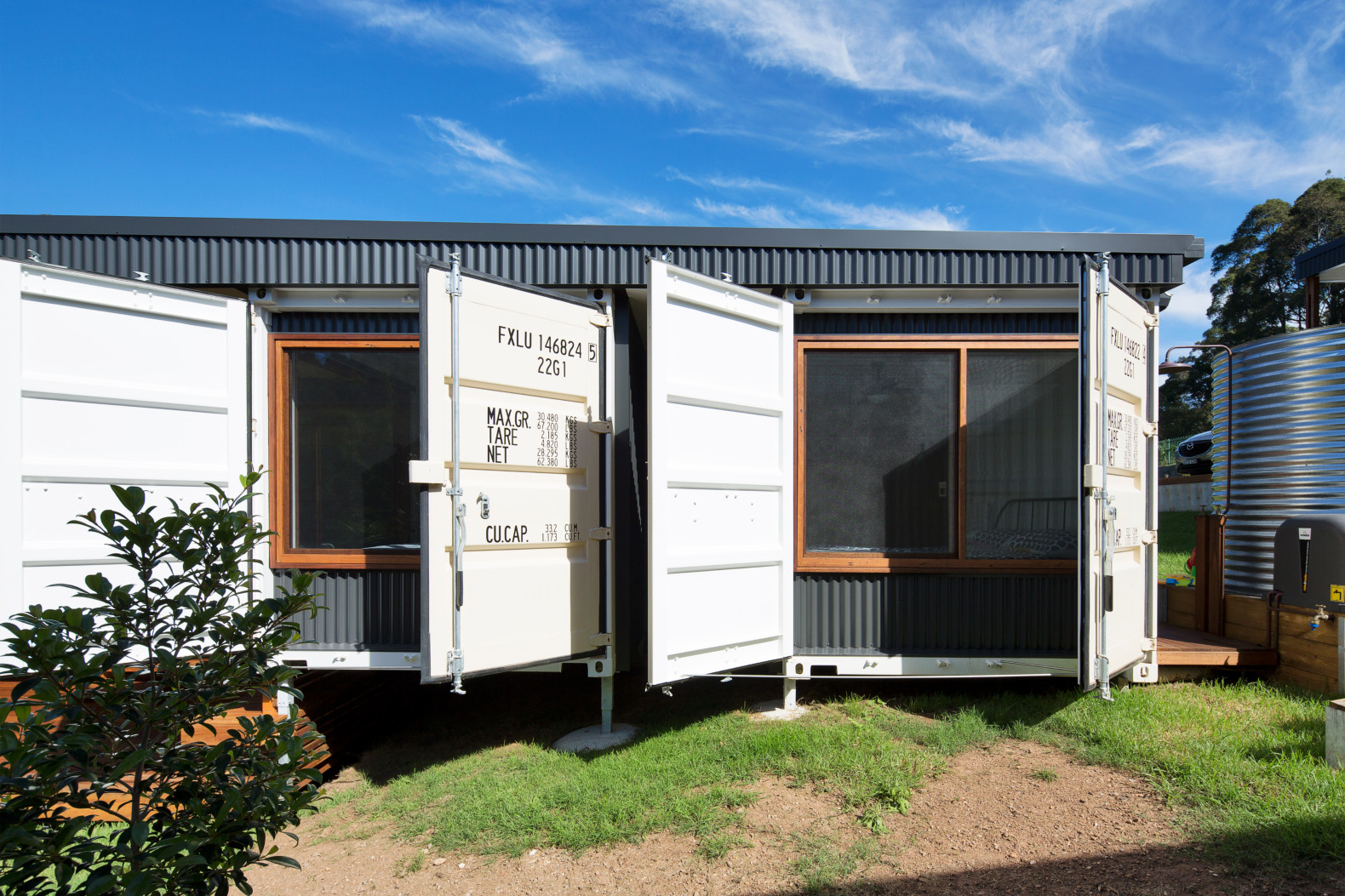 Container House These Four Shipping Containers Form An Eco-friendly Home