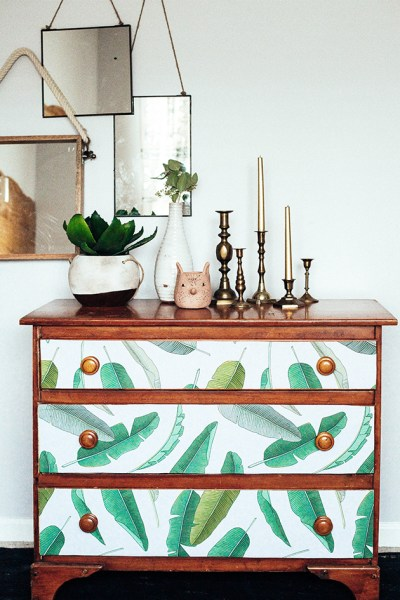 Dresser Makeover using Removable Wallpaper | In Honor Of Design