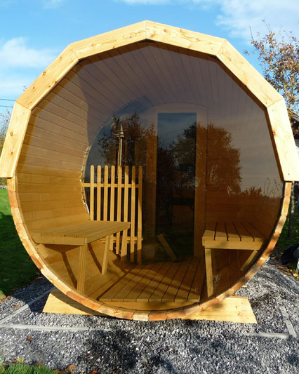Eclairage Led Sol Sauna Baril Exterieur| Forest Spa