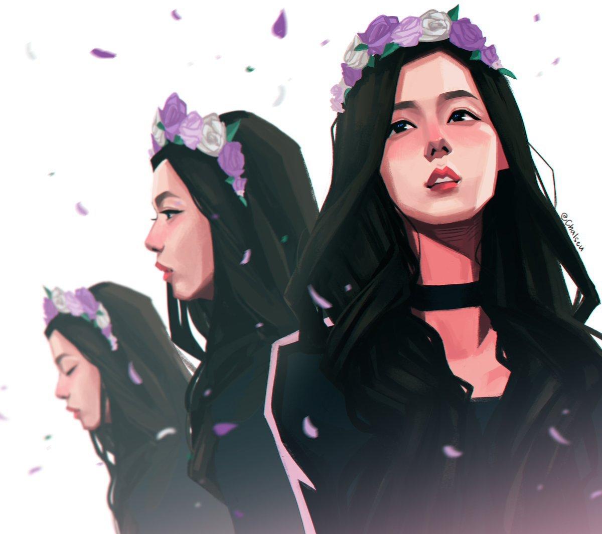 Wallpaper Girl Band Korea Kpopers Ini Membuat Fanart Idol Layaknya Tokoh Komik