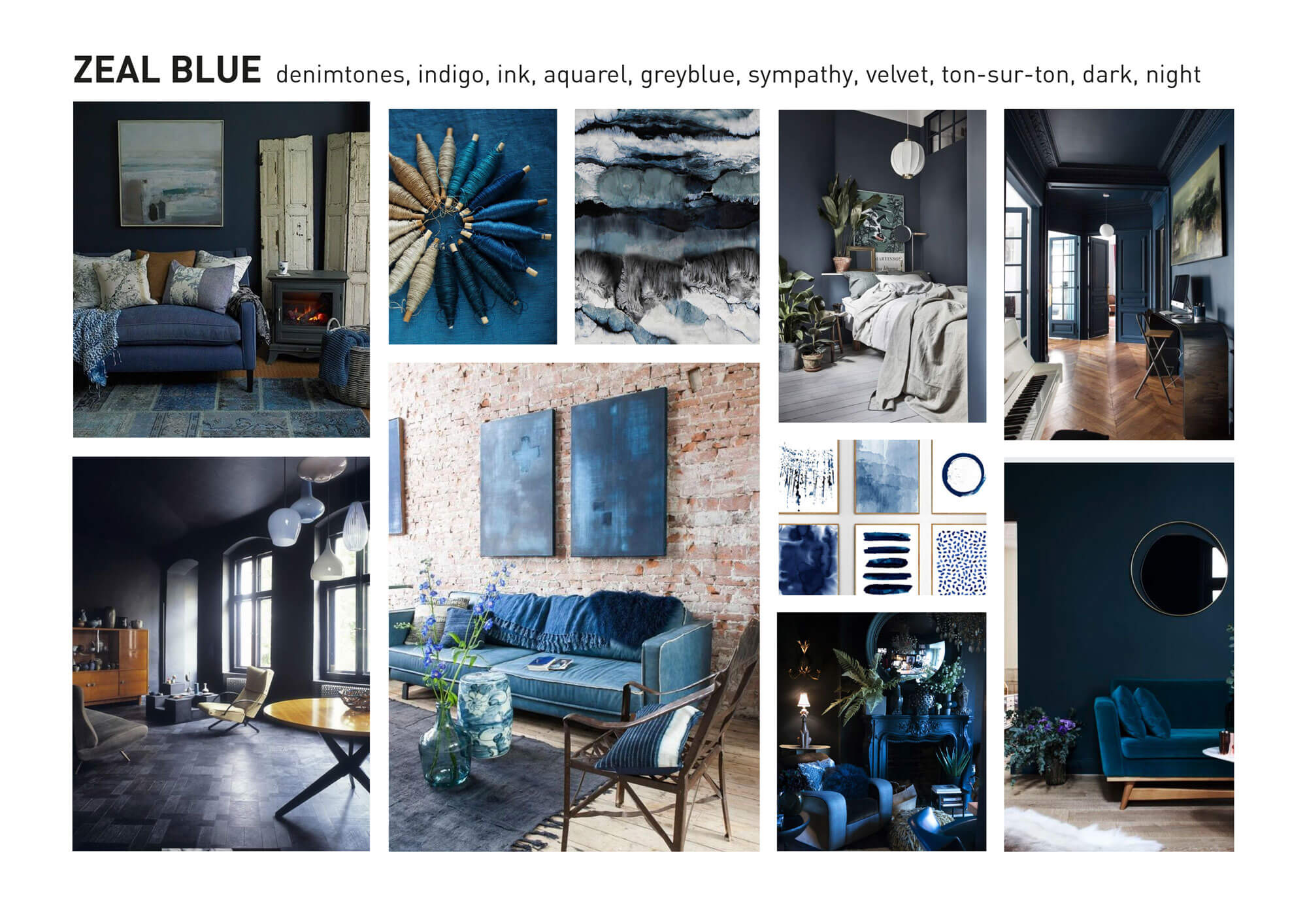 Interieur Trends Zeal Blue Color And Material Forecast Interior Design