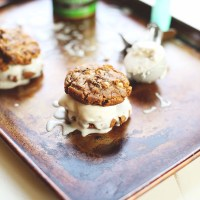 Ice Cream Almond Butter Cookie Sandwiches