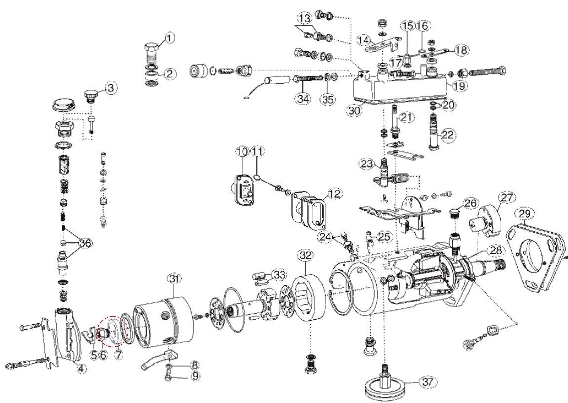 pump parts diagram on ford tractor cav injector pump parts diagram