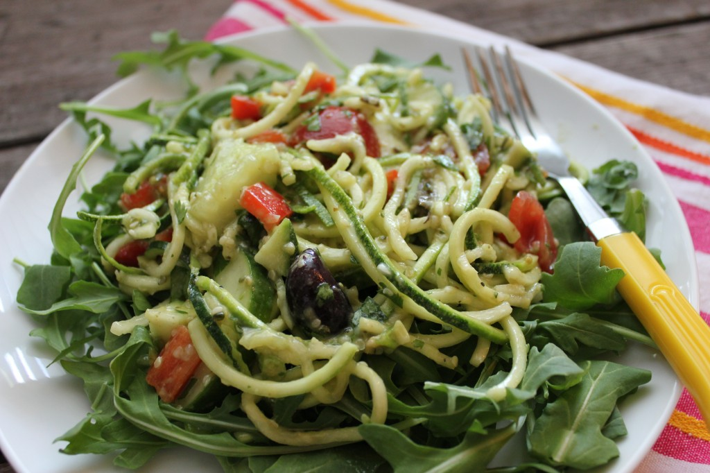 Simple Summer Salad Zucchini Quotpastaquot Salad With Creamy