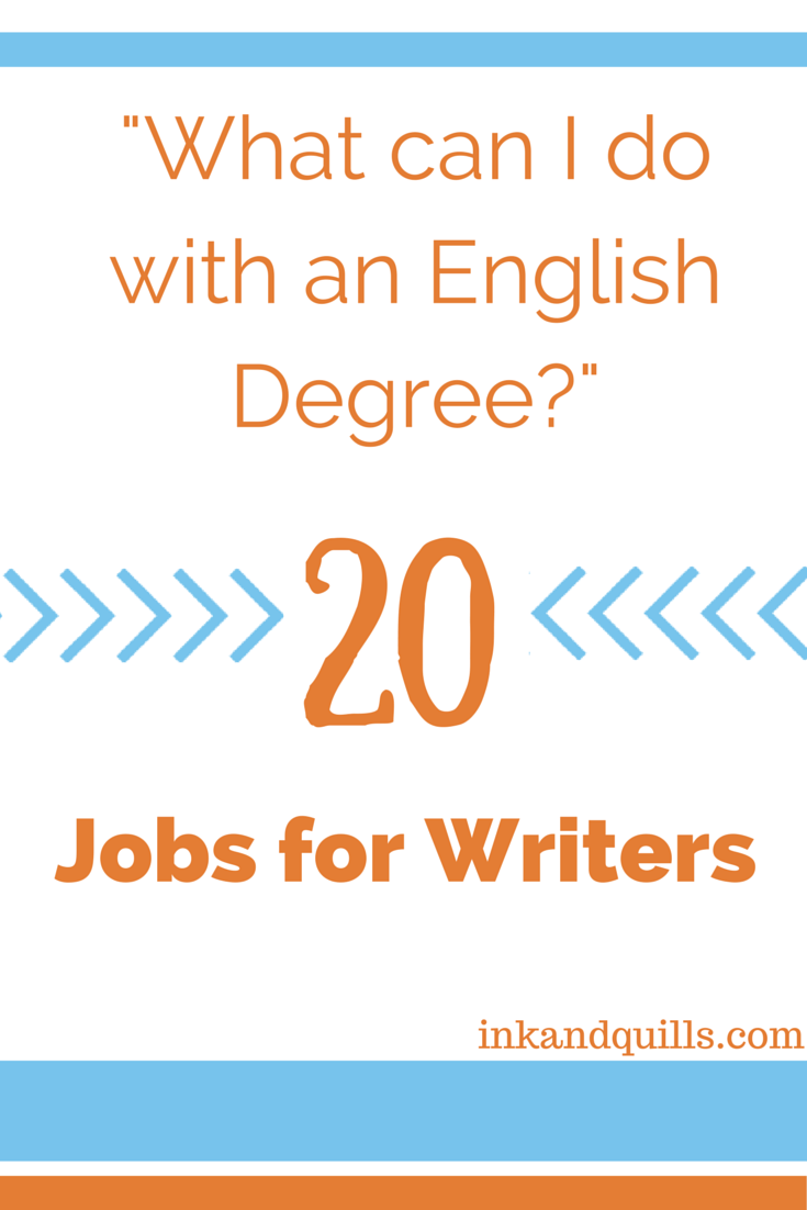 careers with an english and creative writing degree Learn about several exciting and professional writing careers that you have probably  have probably never even thought of  writing is a creative and.
