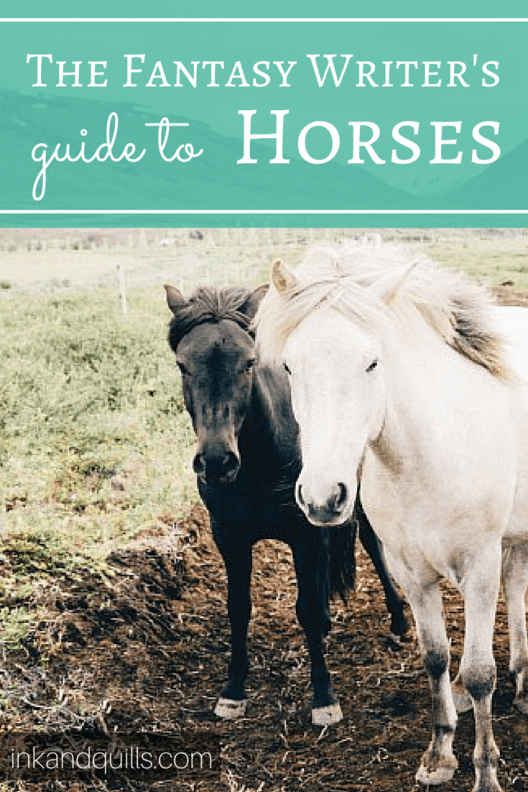 A guide to horses for writers, especially those writing fantasy or historical fiction. Ever wonder how far a horse can travel in a day, or how people in the middle ages cared for their horses? Do you know the difference between a nicker and a neigh? Find out and write horses more realistically in your story!