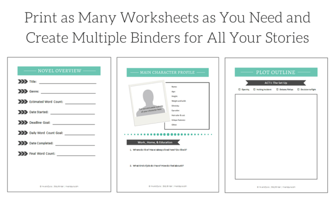 The Story Binder novel organization and development tool from Inkandquills.com