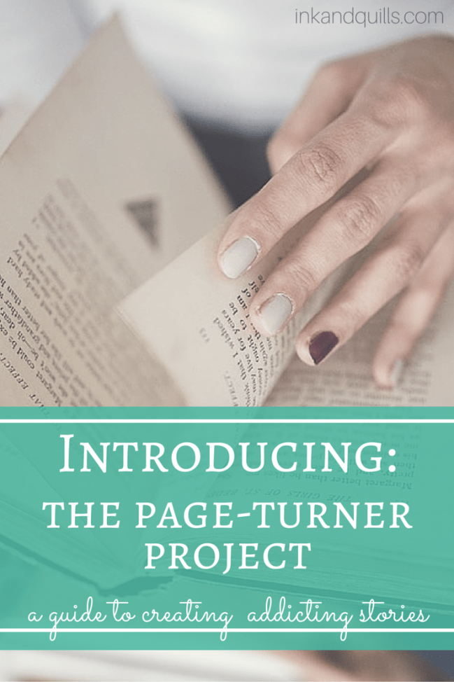 Want to learn how to write a page-turner? The Page-Turner Project is a 78 page guidebook that helps you understand how a page-turner works, and how to create one yourself!