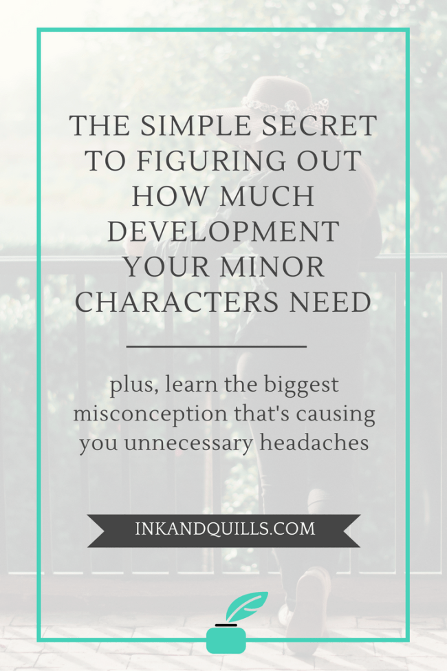Who are the main and minor characters in your novel? Can you tell the difference? Where do you draw the line between the two? How do you decide how fleshed out each one needs to be? Use this simple trick and never scratch your head over how much to develop minor characters again!
