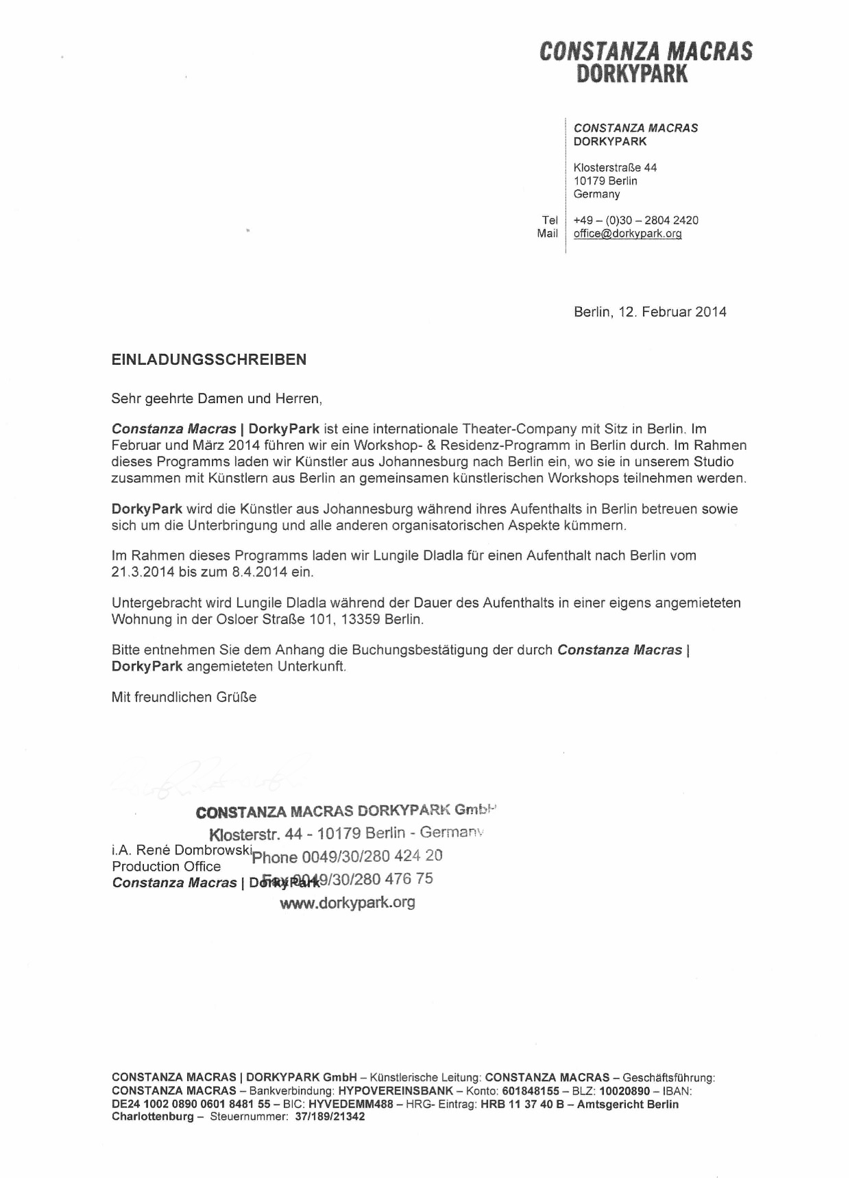cover letter for german visa
