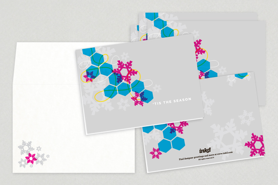 Modern Season Holiday Greeting Card Template Inkd