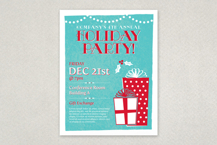 holiday party flyers free templates - Boatjeremyeaton - free holiday flyer templates word