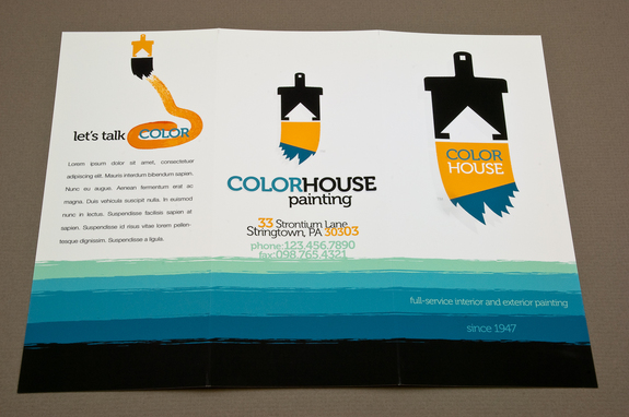 Painting Company Brochure Template Inkd - Company Brochure Templates