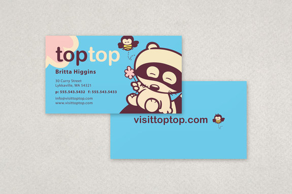 Cute Kids Apparel Business Card Template Inkd