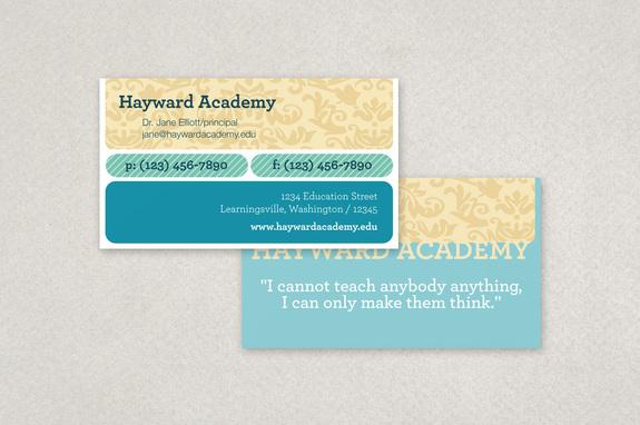 Modern Education Business Card Template Inkd