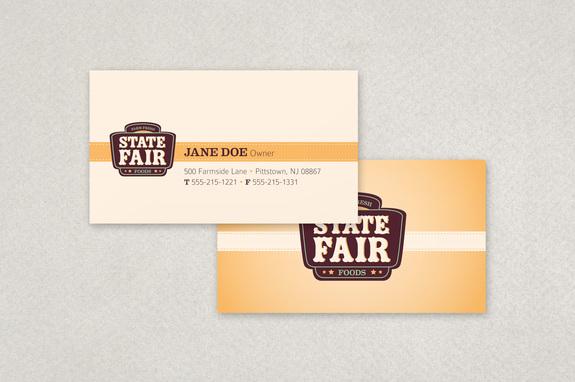Retro Food Market Business Card Template Inkd