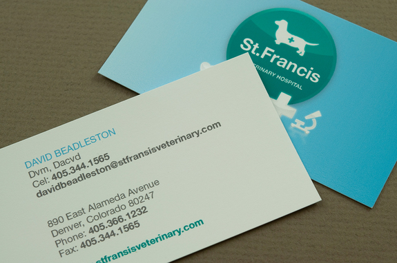 Veterinary Business Card Template Inkd