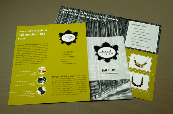 Professional Jeweler Brochure Template Inkd
