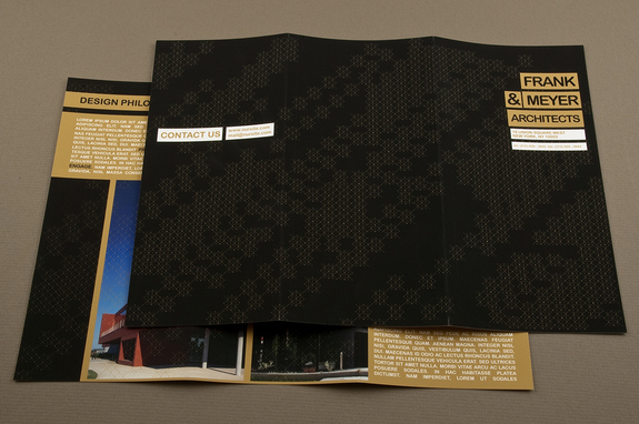 Black and Gold Architecture Brochure Template Inkd