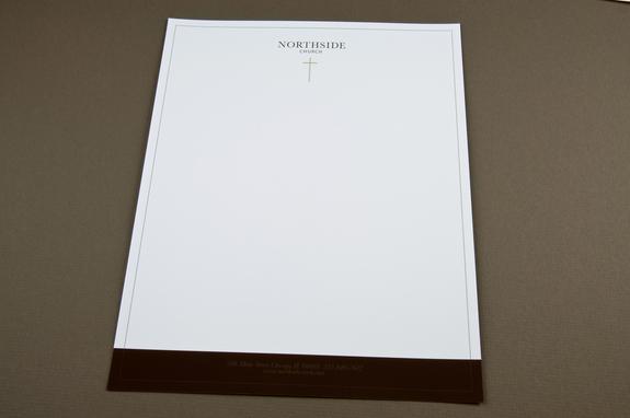 Minimalist Community Church Letterhead Template Inkd