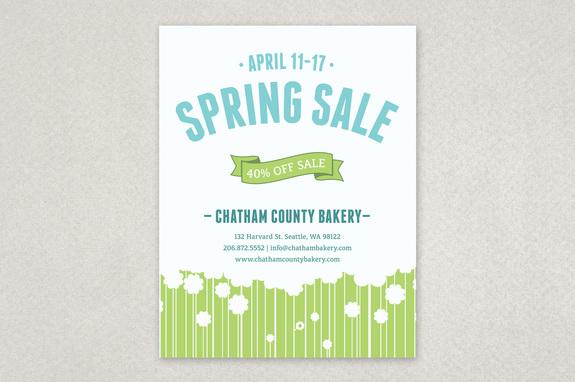 Spring Flowers Sale Flyer Template Inkd - spring flyer template