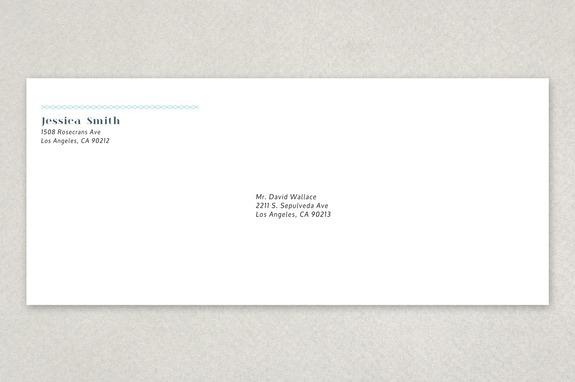 Personable Blogger Envelope Template Inkd