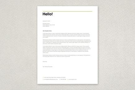 Letterhead Templates, Business Letterhead Designs Inkd