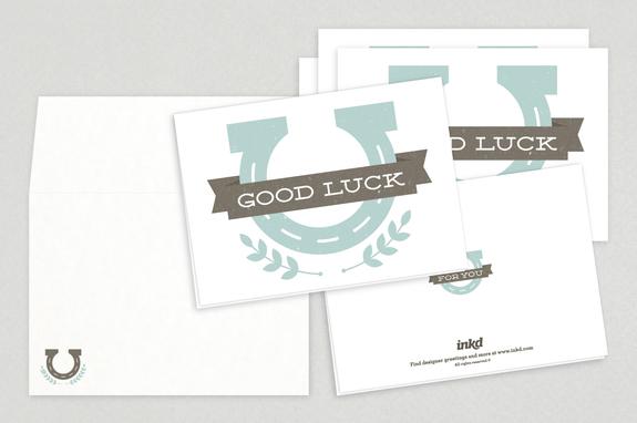 Good Luck Horizontal Greeting Card Template Inkd - good luck card template