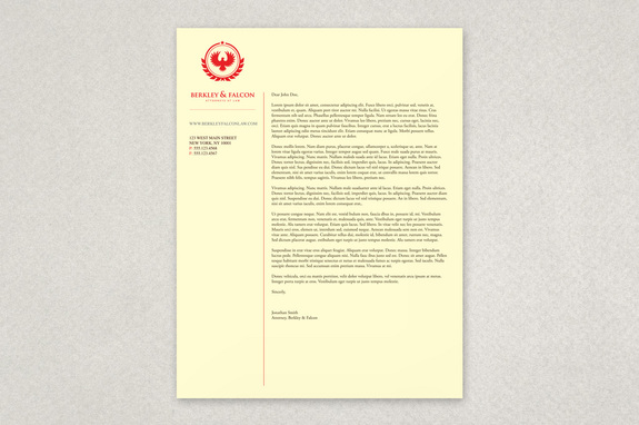 Professional Law Firm Letterhead Template Inkd - Free Business Letterhead Template