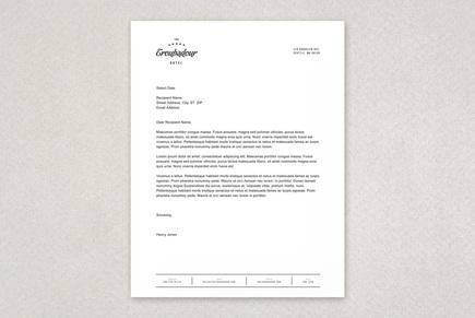Letterhead Designs Business Letterhead Templates Dynamic Hotel Letterhead Template Inkd