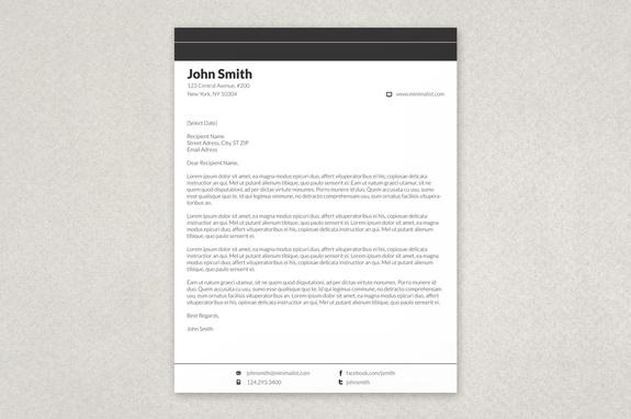 Minimalist Letterhead Template Inkd