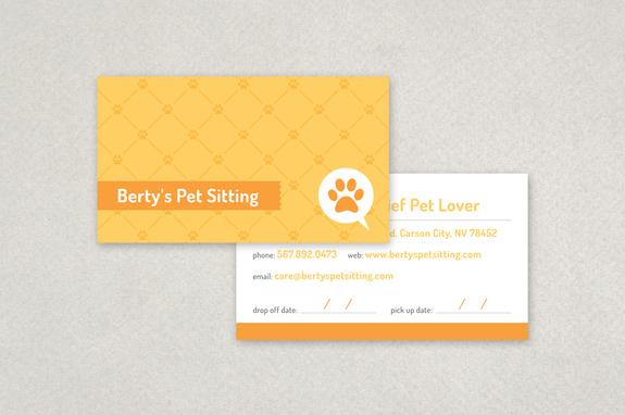 Pet Sitting Business Card Template Inkd