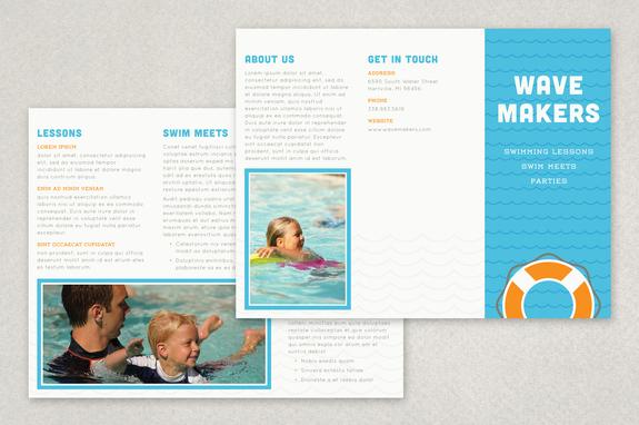 Swimming Pool Brochure Template Inkd - membership brochure template