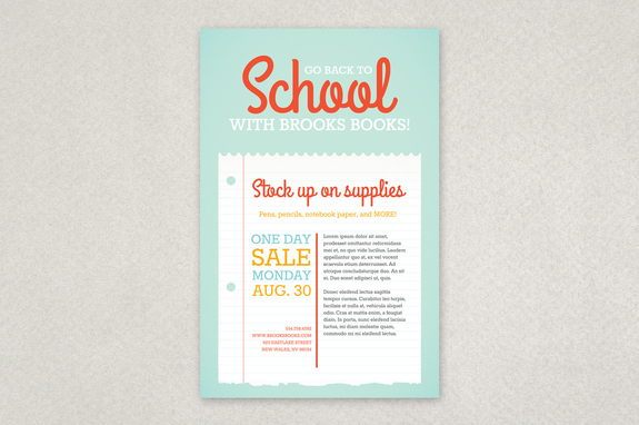 Back to School Sale Poster Template Inkd - for sale poster template